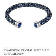 Swarovski Crystal Dust Blue Cuff