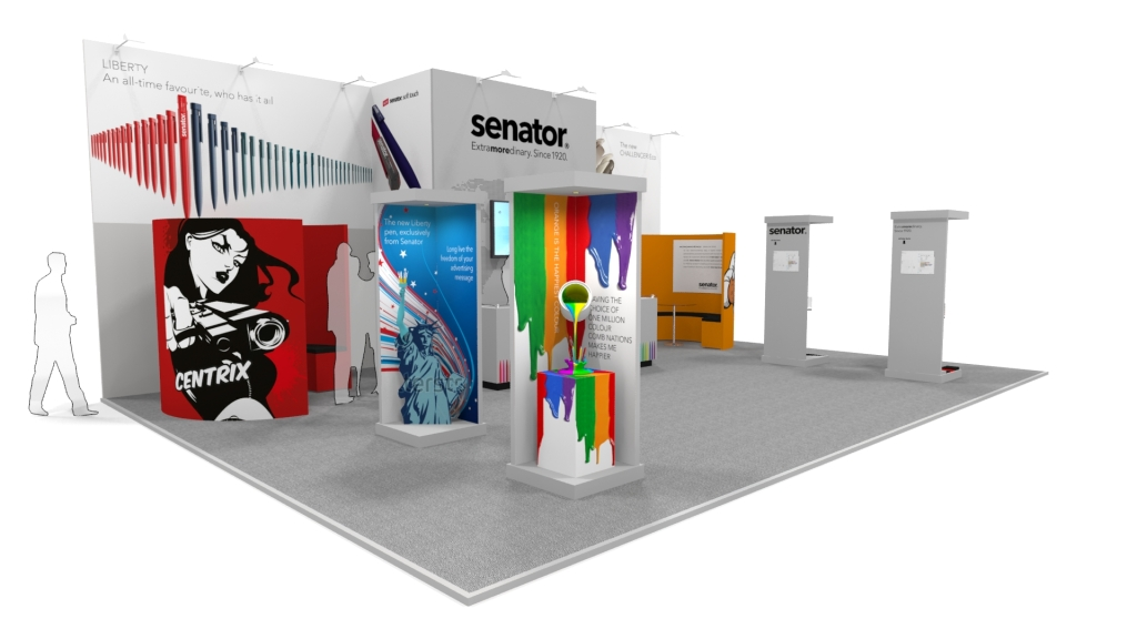 Creative Exhibition Stand : Details for pinnacle creative design in caswell science