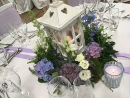Wedding table Arrangements by Flower Design. Ripon
