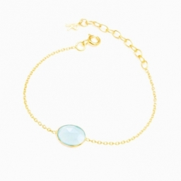 Rodgers & Rodgers Aqua Onyx Gold Vermeil Bracelet