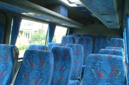 Interior of 16 seater Mercedes mini coach
