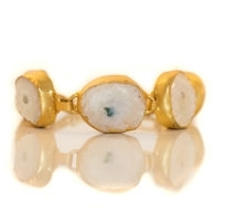 White And Gold Statement Bracelet
