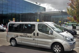 The Pirate Bus, London Heathrow to Cornwall