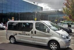 The Pirate Bus, London Heathrow to Cornwall