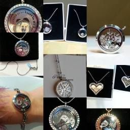 Mixed selection of customer locket designs
