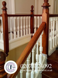 Bannister Freshly Painted and Varnished London