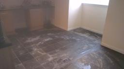 Slate flooring.
