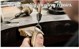 We do jewellery repairs.