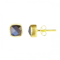 Gold Vermeil Labradorite Studs by Rodgers & Rodgers