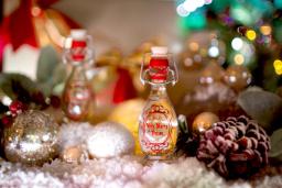 Christmas gift bottles