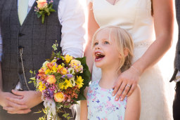 Milling Barn flower girl