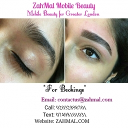 Eyebrow reshape and tint, must be ovee 18, book now on zahmal.com