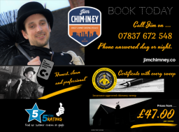 chimney sweep dorset - bournemouth - jim chim-in-e