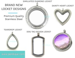 BRAND NEW FLOATIng CHARM LOCKETS JULY