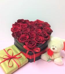 Valentine's day box of roses
