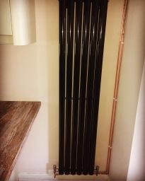 Designer radiator installation