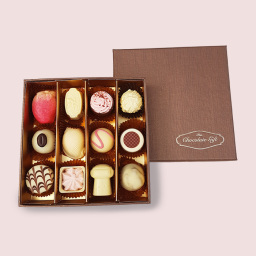 White Belgian chocolate box