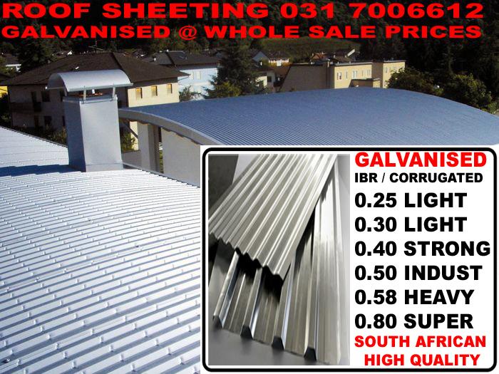 Roof Sheeting Durban 36 Circuit Road Pinetown Kwazulu