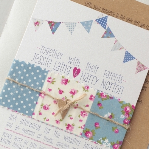 Great British Bunting Invitation With Additional Information Card All Ditsy Chic