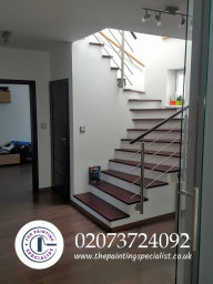 Modern Staircase Painted & Decorated London