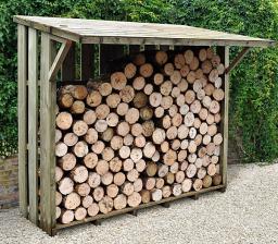 Large flip-top log store