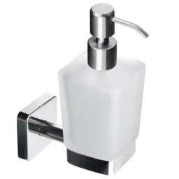Kapitan Quattro Square Soap Dispenser High Quality Pump and Stainless Steel mounting