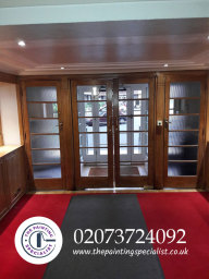 Large Doors Varnished in London