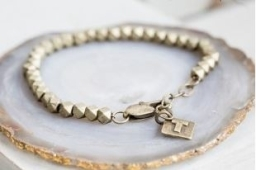 Silver Faceted Bracelet by Tutti & Co