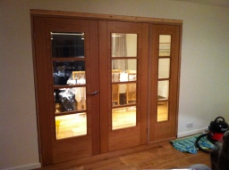 Oak Doors & fixed side panel. Cuffley
