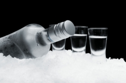 Product Photography Vodka Bottle