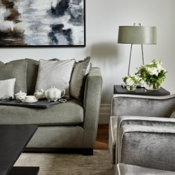 Elegant and sophisticated Living room with bespoke furniture designed by Tailored Living Interiors