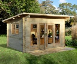 Melbury log cabin