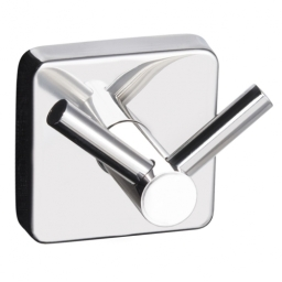 Kapitan Quattro Double Towel Hook Square Or Diamond Mounting Stainless Steel