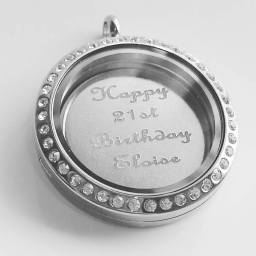 Personalised Locket Engraved Message