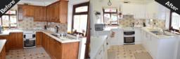 High Gloss White Kitchen Makeover Kidsgrove