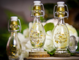Luxury Gold Foiled Wedding Favour Bottles