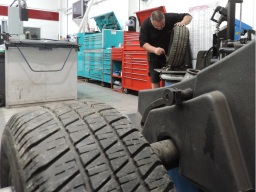 Tyre fitting at Autokare Cambridge