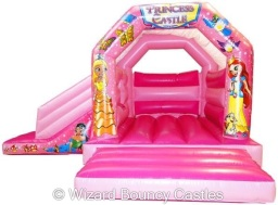 18 x 15 Princess Bounce 'n' Slide Bouncy Castle