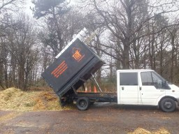 We tip our woodchip at licenced green waste sites