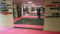 Large mirror fitted in Gym