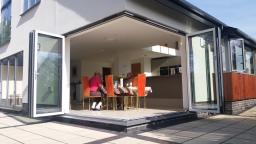 cornerless bifold doors as supplied by doorwins