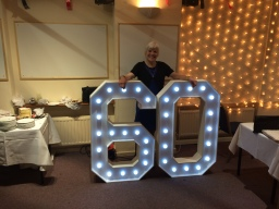 S.O.M. Photo Booth Hire Giant 60th Birthday LED Nu