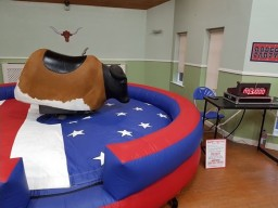 Rodeo bull and bouncy castle hire Sheffield