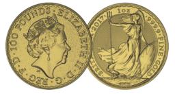 Buy Gold Britannia 1 Oz Coins
