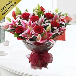Hearts Desire Red Rose And Lily Hand Tied 1 Edited 1