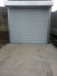 The completed Roller Shutter at Dace Print, Rotherham