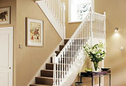 Hallmark white-primed stairs