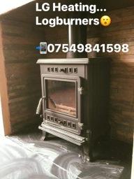 Logburner installation in Derby