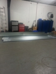 Dace Print, Rotherham: Roller Shutter prepared to be installed