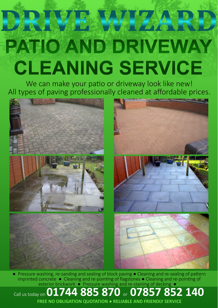 Drive wizard patio and driveway cleaning service 12 for Driveway cleaning companies